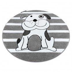 Kulatý koberec PETIT ŠTĚNĚ, šedý