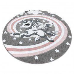 Carpet PETIT PONY circle grey
