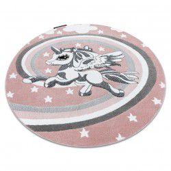 Alfombra PETIT PONY poni círculo rosa