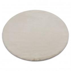 Kulatý koberec BUNNY béžový, imitace králíčí kožešiny