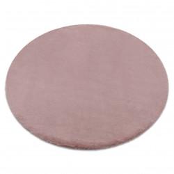 Килим BUNNY кръг розово имитация на заешка кожа