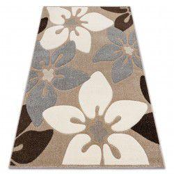 Ковер FEEL 1602/15055 цветы бежевый / серый