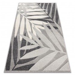 Carpet FEEL 1827/16811 LEAVES grey / cream
