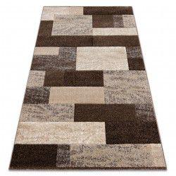 Tæppe FEEL 5756/15044 REKTANGLER brun