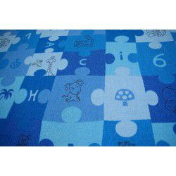 Passadeira carpete PUZZLE azul