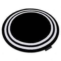 Teppich HAMPTON Rahmen Kreis schwarz