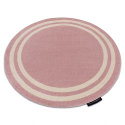 Tapete HAMPTON quadro redondo cor de rosa