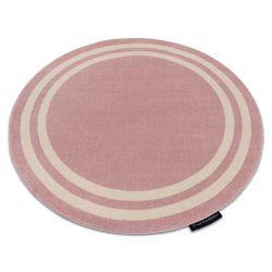 Tapis HAMPTON Cadre cercle rose