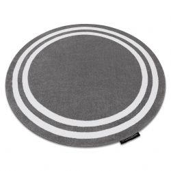 Teppich HAMPTON Rahmen Kreis grau