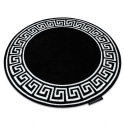 Kulatý koberec HAMPTON Grecos Řecký, černý