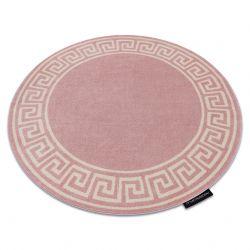 Tapete HAMPTON Grecos redondo cor de rosa