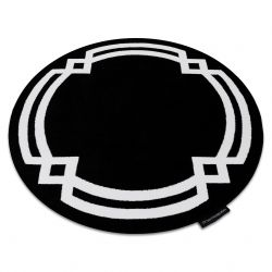 Teppich HAMPTON Lux Kreis schwarz