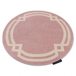 Kulatý koberec HAMPTON Lux růžový