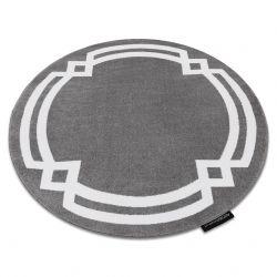 Teppich HAMPTON Lux Kreis grau
