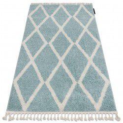 Carpet BERBER TROIK A0010 blue / white Fringe Berber Moroccan shaggy