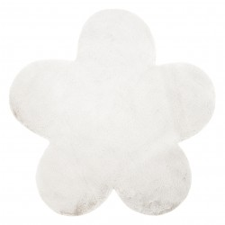 Dywan NEW DOLLY kwiatek G4372-3 biały IMITACJA FUTRA KRÓLIKA