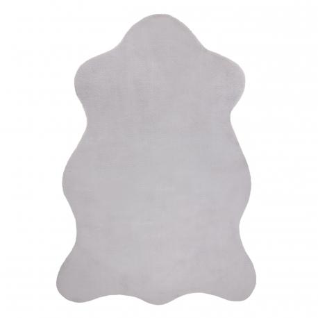 Koberec NEW DOLLY kůže G4337-3 stříbrný IMITACE RABBIT FUR