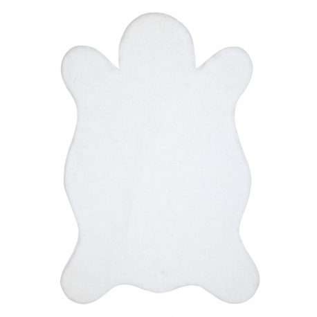 Carpet 60x90 cm NEW DOLLY skin G4368-3 white IMITATION OF RABBIT FUR