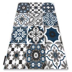 Tapis ALTER Porto fleurs bleu