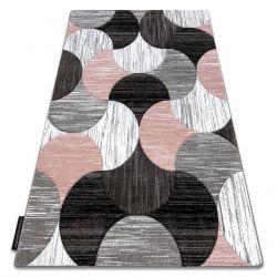 Tæppe ALTER geometrisk Musling lyserød