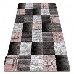 Tapete ALTER Siena quadrados treliça cinzento