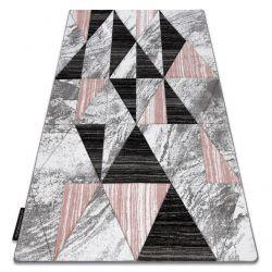 Covor ALTER Nano triunghiuri roz