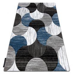 Tæppe ALTER geometrisk Musling blå