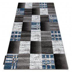 Teppich ALTER Siena Quadrate Gitter blau