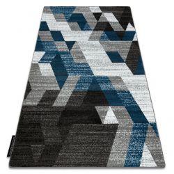 Dywan INTERO TECHNIC 3D Romby Trójkąty niebieski