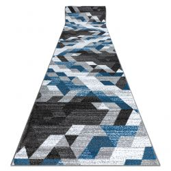 Tapis de couloir INTERO TECHNIC 3D diamants triangles bleu