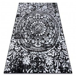 Carpet RETRO HE183 black / cream Vintage