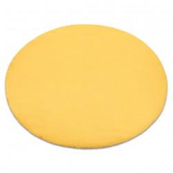 Carpet BUNNY circle gold IMITATION OF RABBIT FUR