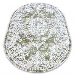 Akril DIZAYN szőnyeg ovális 143 zöld / elefántcsont