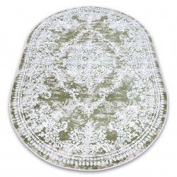 Carpet ACRYLIC DIZAYN oval 143 green / ivory