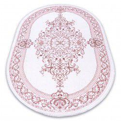 Akril DIZAYN szőnyeg ovális 142 elefántcsont / rózsaszín