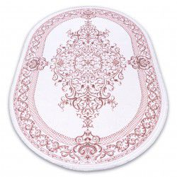 Carpet ACRYLIC DIZAYN oval 142 ivory / pink