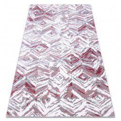 Tæppe ACRYL DIZAYN 121 lyse grå / lyse lyserød