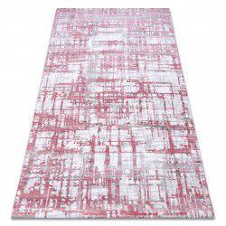 Alfombra acrílica DIZAYN 122 rosa claro / gris claro