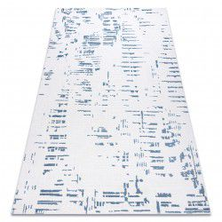 Covor acril DIZAYN 8840 fildeş / albastru