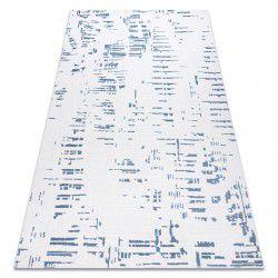 Koberec AKRYL DIZAJN 8840 slonová kost, modrý