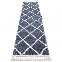 Le tapis, le tapis de couloir BERBERE CROSS gris - pour la cuisine, l'antichambre, le couloir