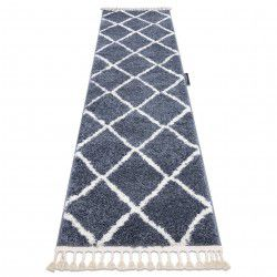 Teppich, Läufer BERBER CROSS grau - in die Küche, Halle, Korridor
