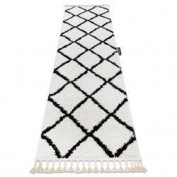 Carpet, Runner BERBER CROSS white - for the kitchen, corridor & hallway