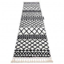 Le tapis, le tapis de couloir BERBERE SAFI blanc - pour la cuisine, l'antichambre, le couloir