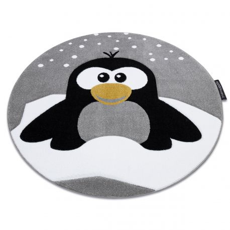 Carpet PETIT PENGUIN SNOW circle grey