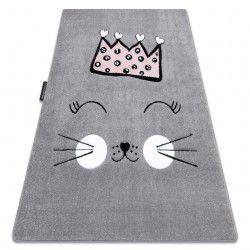 Tapis PETIT CAT CHAT COURONNE gris