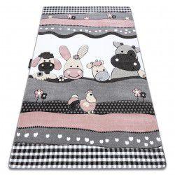 Carpet PETIT FARM ANIMALS pink