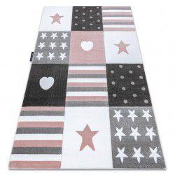 Carpet PETIT TEENY HEART STARS pink