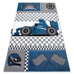 Koberec PETIT ZÁVODY FORMULE 1 AUTO, modrý