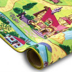Szőnyegpadló szőnyeg CANDY TOWN gyerekeknek város